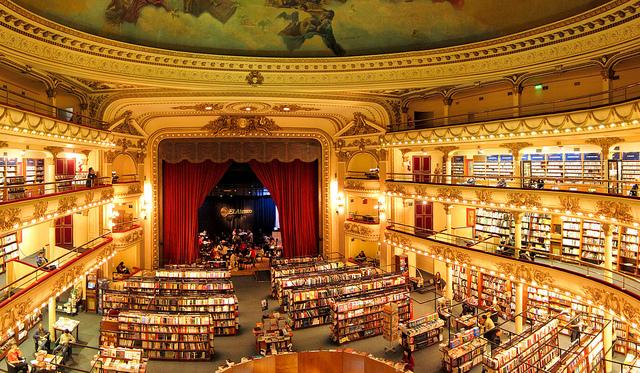 foto libreria teatro más chula