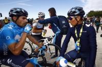 Tour De France 2019 - 106th Edition - 6th stage Mulhouse - La Planche des Belles Filles 157 km - 11/07/2019 - Mikel Landa (ESP - Movistar Team) - Nairo Quintana (COL - Movistar Team) - photo Luca Bettini/BettiniPhoto©2019